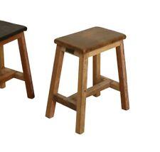 Hocker Beistelltisch Nachttisch recycled teak Leder Sitz Cognac Gaucho stool