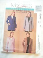 Vintage 1999 Sewing Pattern The Perfect Jacket Lined Size 20 Uncut
