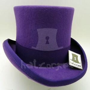 VINTAGE Wool Felt Boys Top Hat Kids Tuxedo Topper Child Party | 52cm | Purple
