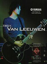 A Perfect Circle Troy Van Leeuwen Yamaha Guitars 2001 Promo Poster Ad