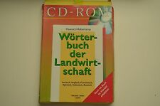 Agriculture Dictionary English, French, German, Italian, Russian, Spanish CD-ROM