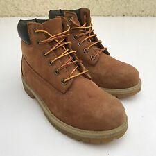 L@@K TIMBERLAND GIRLS LADIES WOMENS TAN LEATHER BOOTS UK 3M EU 36M