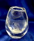 Vintage Kosta Boda Etched Art Glass Crystal Bud Vase Signed Numbered