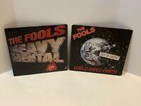 The Fools 2 Vinyl LP Lot Heavy Mental (1981) World Dance Party (1985) Pop Rock