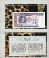 *Most Treasured Banknotes Mongolia 1993(1994) 100 Tugrik P-57 UNC Prefix AA