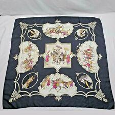 Vintage Hermes Paris Silk Scarf - Les Chevaux Empereurs Moghols J. de Fougerolle