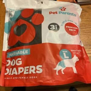 Washable Dog Diapers (3 Pack) Durable Doggie Diapers/Premium Male/Female Large