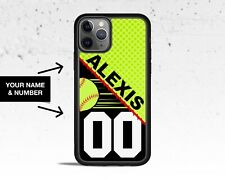 Personalized Softball Phone Case for Apple iPhone iPod & Samsung