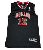 Chicago Bulls Kirk Hinrich Youth Large L Reebok Swingman Black Jersey - Retro