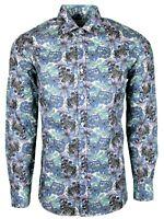 FLORAL MULTI COLOUR MENS PARTY CASUAL DRESS MOD 60s SHIRT NOW £19.99 (477)