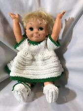 """1969 Remco Doll Tumbling Tomboy Doll 16"""" Adorable Doll Hand Knit Outfit"""