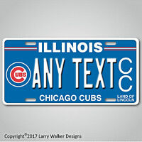 Illinois Chicago Cubs Custom Any Your Text  Aluminum License Plate Tag New