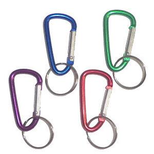 12 Aluminum Carabiner Clip Key Chains - Bulk Wholesale Lot - US Seller - NEW