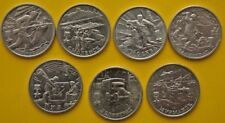 Russia 2000 Set 7 coins 2 rubles Hero Cities