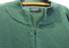 Izod Golf Men's Long Sleeve 1/4 Zip 100% Cotton Pullover Sweater / Shirt