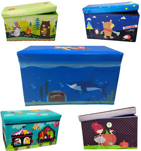 Kids Storage Ottoman Toddler Seat Stool Bench Chest Toy Box With Different Style
