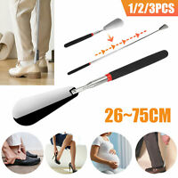 "Shoe Horn Extra Long Handle Stainless Steel 30"" Shoes Remover Helper Extendable"