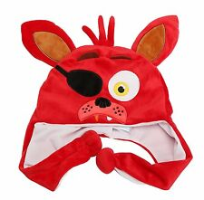 Five Nights at Freddy's Red Foxy Plush Laplander Beanie Hat-Brand New w/o tags!