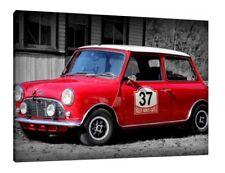 MINI Classic Cooper Sport - 30x20 pollici Tela Foto Incorniciata Stampa Wall Art