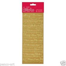 Docrafts Traditional Xmas Sentiments Outline Stickers Wood Gold 29 X 11 X 0.2