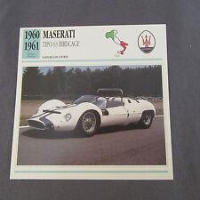649C Edito Service Fiche Dépliant Maserati Tipo 63 Birdcage