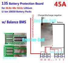 48V 54.6V 13S 45A Lithium ion Li-ion Li-Po LiPo Polymer Battery BMS PCB System