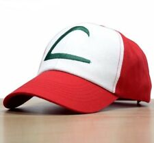 Pokemon Go Ash Ketchum Adjustable Original KANTO Cosplay Hat Cap Cloth back Red