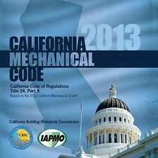 2013 California Mechanical Code Book - New