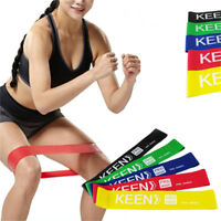 Elastic Resistance Loop Bands Gym Yoga Fitness Workout Heavy Duty Training Kit