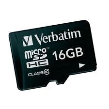 16GB MicroSD Class 10 UHS-I Verbatim Speicher Karte für Handy Foto Video neu