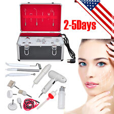 5in1 High Frequency Electropathy Galvanic Facial Brush Vacuum Spray Beauty Skin+