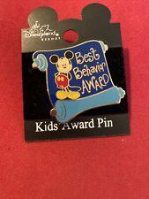 DISNEYLAND RESORT Disney Best Behavior Award Mickey Mouse Pin