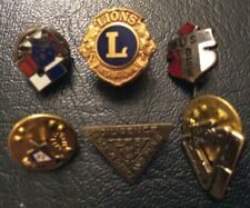 THE VINTAGE SIX PINS - Lions,Bee,KoC,G.