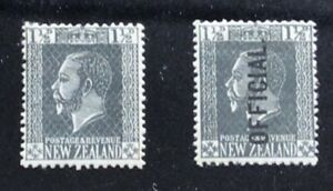 New Zealand Stamp 1915 KGV Local Print + Official - Mint Hinged