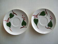 STANHOME IVY Blue Ridge Southern Potteries 2 saucers