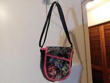 Bag~Monster High Handbag Black & Pink Adjustable Strap Length Purse