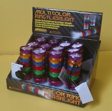 12 MultiColor Ring LED Flashlight, AAA Batteries Included ~ Free Shipping