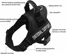Fairwin Service Vest Dog Harness - Adjustable Nylon Removable Reflective Patches