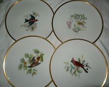 Hutschenreuther AUDUBON BIRD DINNER Plates Set 4 - Germany - Pasco NEW