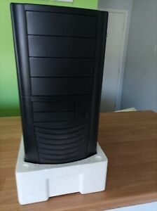 Retro Unused Stock Computer Case 6a series Black no PSU lockable + keys