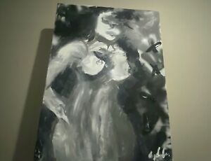 original abstract paintings on canvas. By Artist Constantine. Black and white