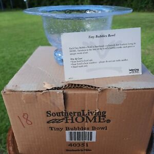 NIB Southern Living at Home Tiny Bubbles Bowl Glass Footed