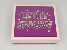 Bath and Body Works Pink Purple Let It Snow W/ Sequins Empty Gift Box