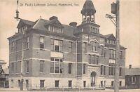 Postcard St. Paul's Lutheran School in Hammond, Indiana~124390