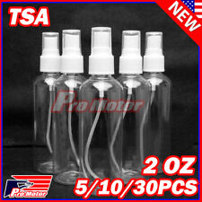 2 OZ PET TSA Clear Plastic Spray Bottles Travel Perfumes Refill Mist Pump Reuse