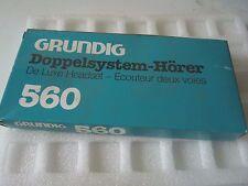 Grundig De Luxe Headset 560 Doppelsystem-Horer Ecouteur deux voies 1pc NOS