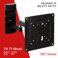 """22""""-37"""" Full Motion TV Wall Mount Swivel Bracket LCD LED Plasma Flat Tilt Screen"""