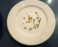 Varages France Vtg Faience Pottery Rooster Set 5 Dinner Plates French Quimper