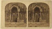 Verona Sant' Zenon Italia Foto Stereo Stereoview Vintage Albumina c1860
