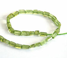 HALF STRAND NATURAL PERIDOT FLAT RECTANGLE BEADS, 4 - 5 X 3 MM, GEMSTONE